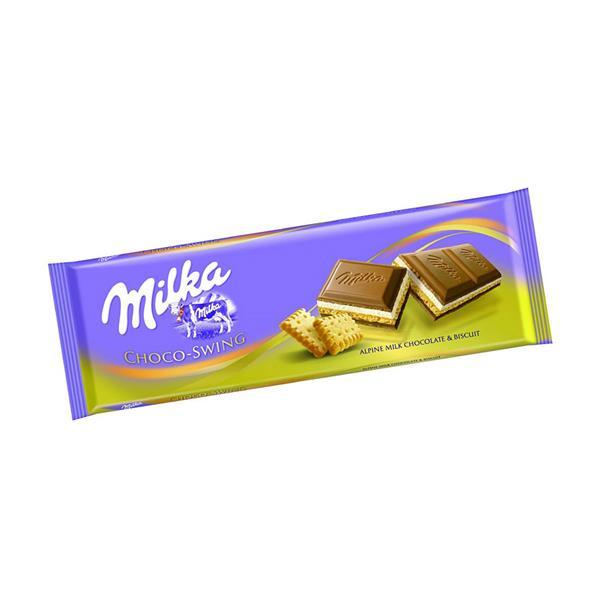 妙卡饼干碎片巧克力片 Milka  CHOCOSWING BISCUIT 300G